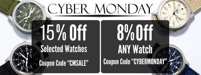 Newsletter : Cyber Monday Sale is on – Last Chance to Save up to 88% off on Watches!