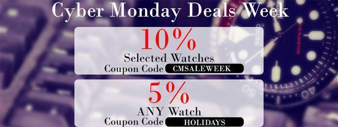 Newsletter : Cyber Monday Week – Discount Coupon on ALL watches inside!
