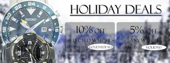 Newsletter : Holiday Deals Continue – Last Chance to Save up to 80% on Watches!