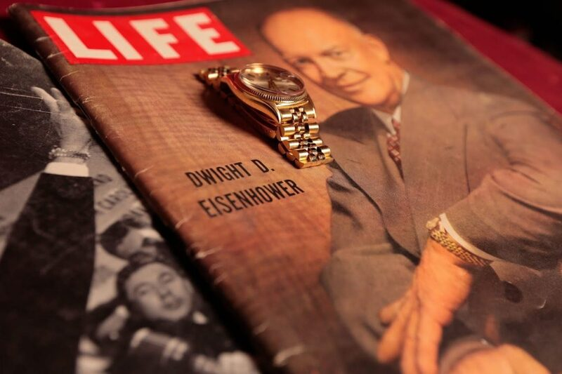President Eisenhower's 18k Gold DateJust Rolex Goes Up for Auction